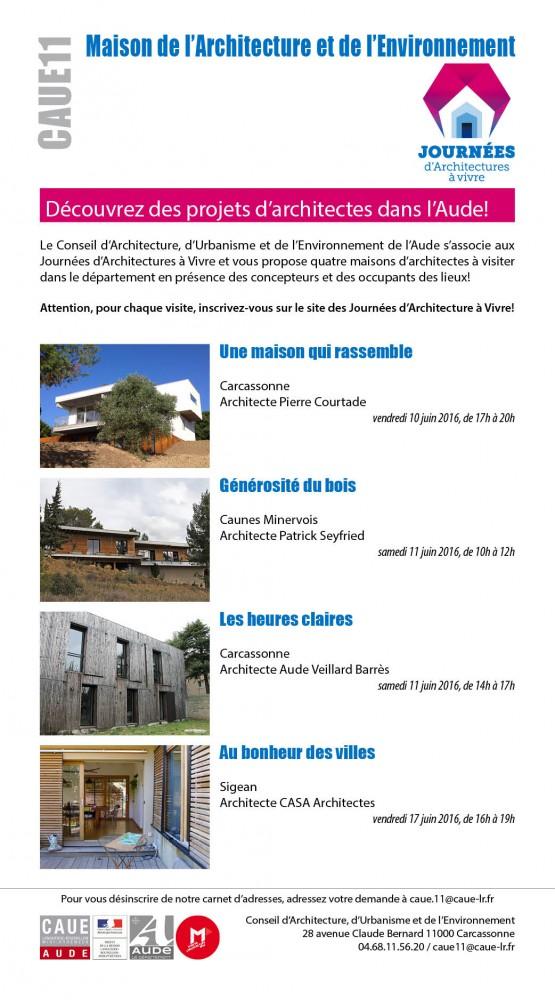 journées d'architecte dans l'Aude