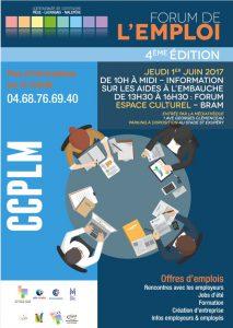 Forum de l'Emploi à Bram le 1er juin 2017