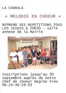 """Rentrée pour la chorale """"Mélodie en choeur"""""""
