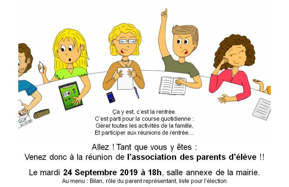 reunion-rentree-asso-parent-deleve-2019