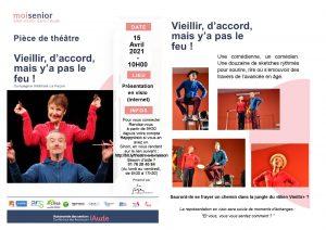 Spectacle humoristique sur le thème de «bienvieillir» en visio conférence organisé par L'Espace Séniors du Département/Lauragais