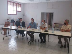 Visite de Monsieur Pla, sénateur Audois et de Monsieur André Viola, Président de la CCPLM